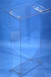 Clear Glass podium
